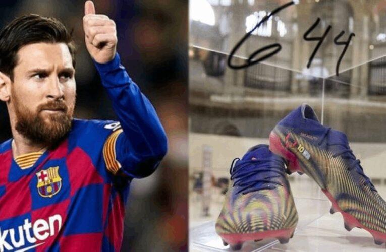 Messi bán đấu giá giày 4 tỷ đồng để làm từ thiện