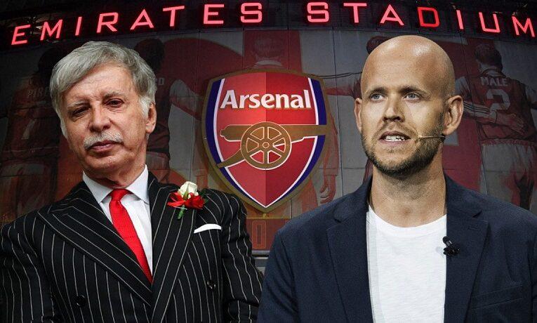 Ông chủ ứng dụng Spotify muốn mua lại CLB Arsenal từ tay Stan Kroenke
