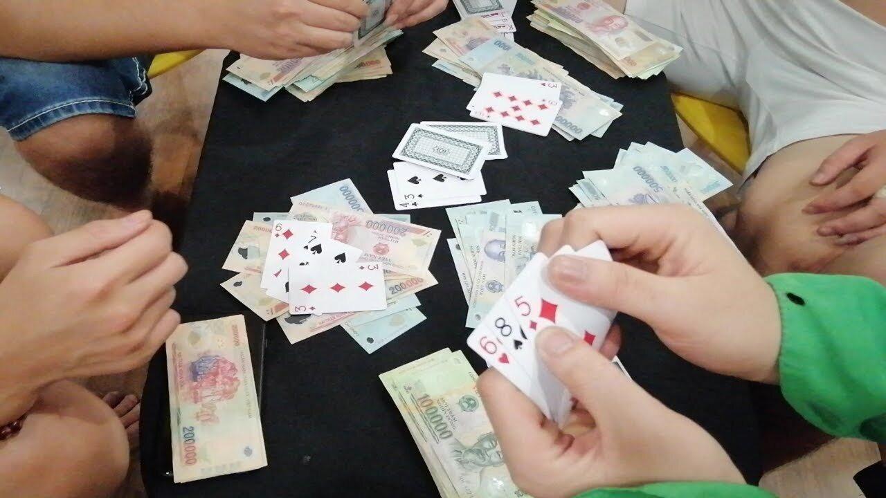 Hiện trường tụ điểm đánh bạc